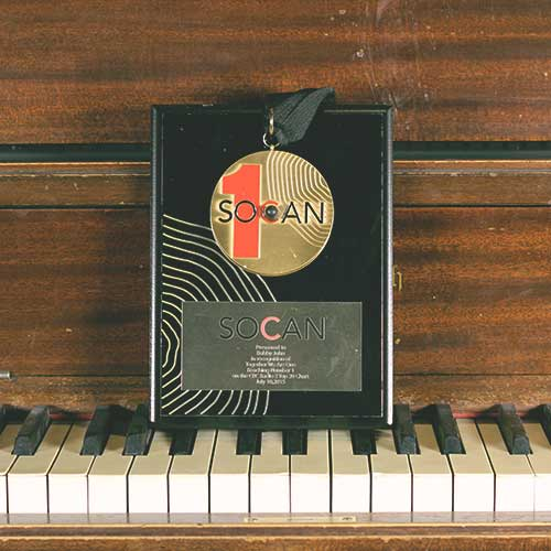 Bobby John - Songwriting #1 SOCAN Award